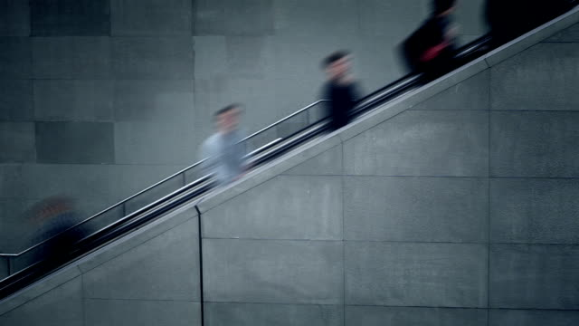 people on the escalator - time lapse - railway station stock videos & royalty-free footage