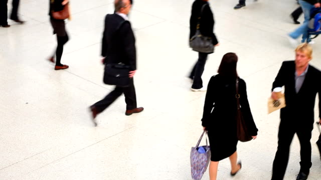 People On The Move In A Station