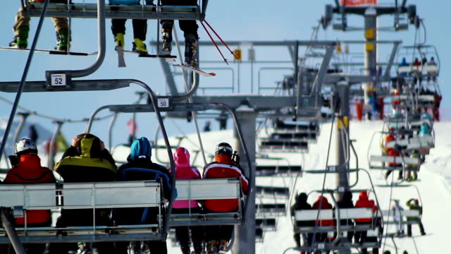 People on the ski lift