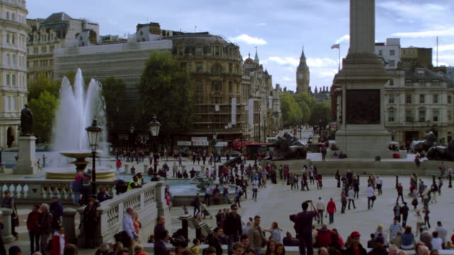 People on Trafalgar Square