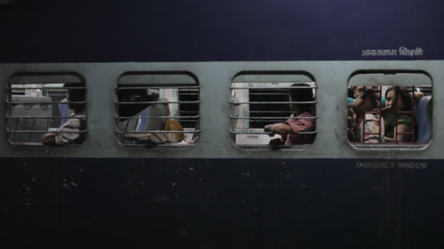 ms people on train at night / india - less than 10 seconds stock videos & royalty-free footage