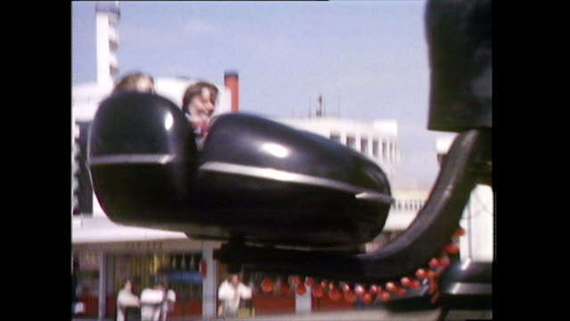people on various amusement park rides; 1978 - arts culture and entertainment stock videos & royalty-free footage