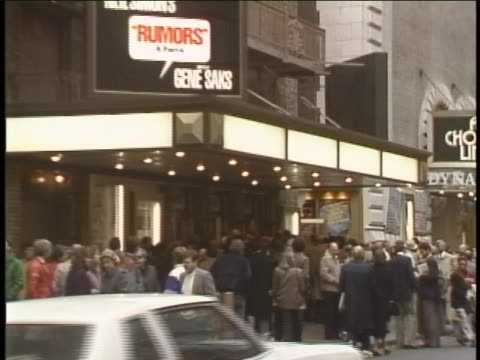 people online to get into the theater for neil simon's rumors on broadway. - 1980 1989 stock videos & royalty-free footage