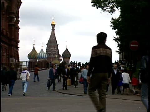 people outside kremlin palace in soviet-era moscow - 1987 stock videos & royalty-free footage