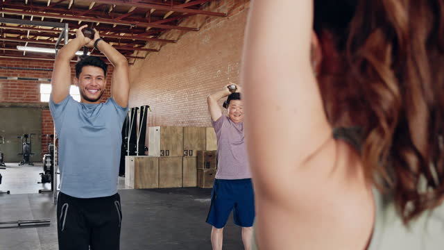 people participate in weight training class - hand weight stock videos & royalty-free footage