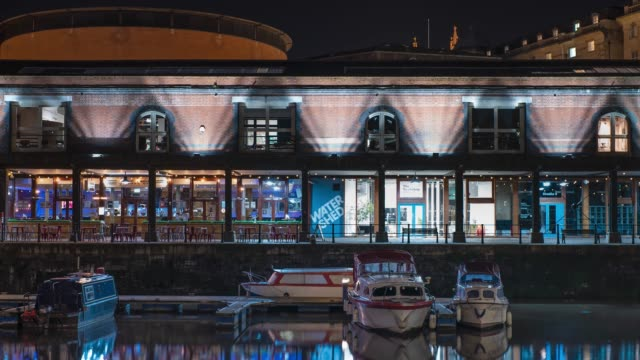 people passing by the watershed independent cinema on bristol's harbourside, in bristol, united kingdom. - blurred motion stock videos & royalty-free footage