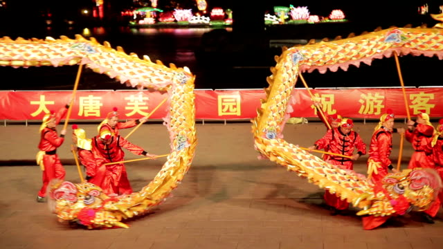 ZO People perform dragon dance to celebrate Spring Festival of China.