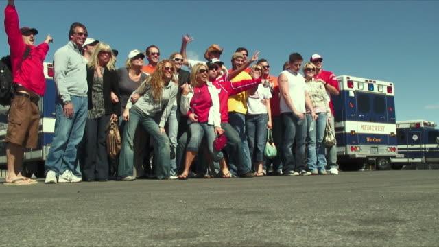 WS People photographing 'NASCAR' on 31' / Las Vegas, USA