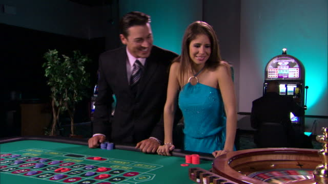 people playing roulette - casino people stock videos & royalty-free footage