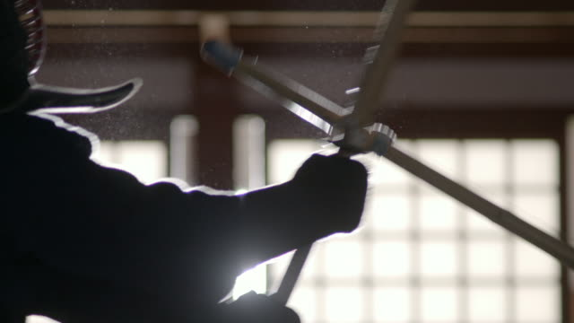 people practice kendo in a dojo, japan - martial arts stock videos & royalty-free footage