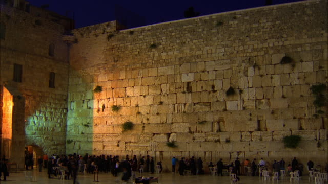 people pray at the western wall - wailing wall stock videos & royalty-free footage