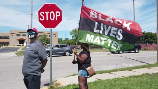 people prepare to march in support of jacob blake and his family to the kenosha county courthouse on august 29 2020 in kenosha wisconsin blake was... - back to front stock videos & royalty-free footage