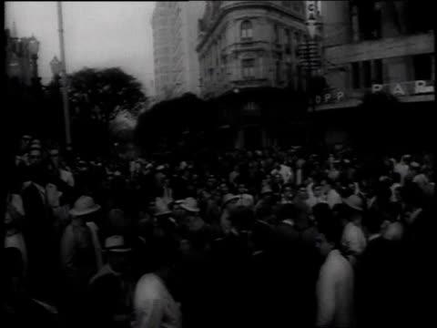 MONTAGE people protesting on a city street / Rio De Janeiro Brazil