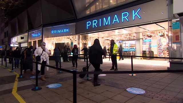 people queueing before dawn outside primark as it reopens after the coronavirus lockdown - pandemic illness stock videos & royalty-free footage