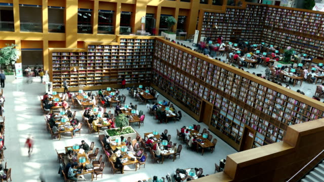People read in the library and study