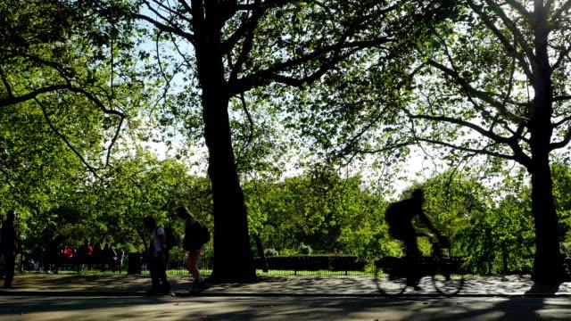 People Relaxing In London Hyde Park