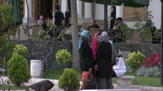 MS People relaxing in park, Tehran, Iran