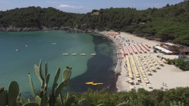 people relaxing on beach at fetovaia - island of elba stock videos & royalty-free footage