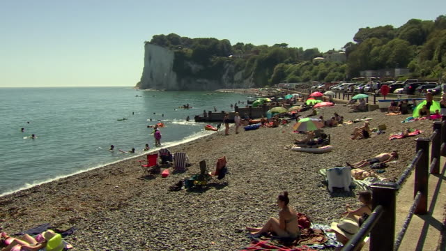 people relaxing on the dover coast - summer stock videos & royalty-free footage