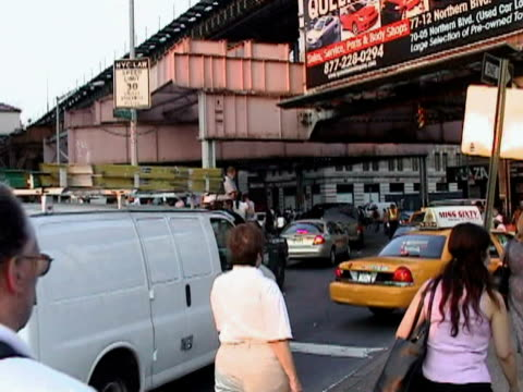 people riding in back of truck in traffic during citywide blackout on august 14, 2003 / queens, new york, usa / audio - 2003 stock videos & royalty-free footage