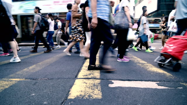 people rush in hong kong, china - pedestrian stock videos & royalty-free footage