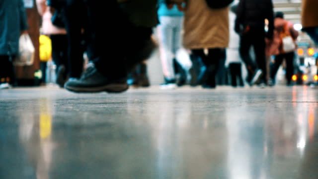 people rushing in the airport - human foot stock videos & royalty-free footage