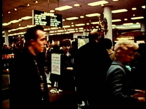 montage, people shopping, 1960's, detroit, michigan, usa - 1960 1969 stock-videos und b-roll-filmmaterial