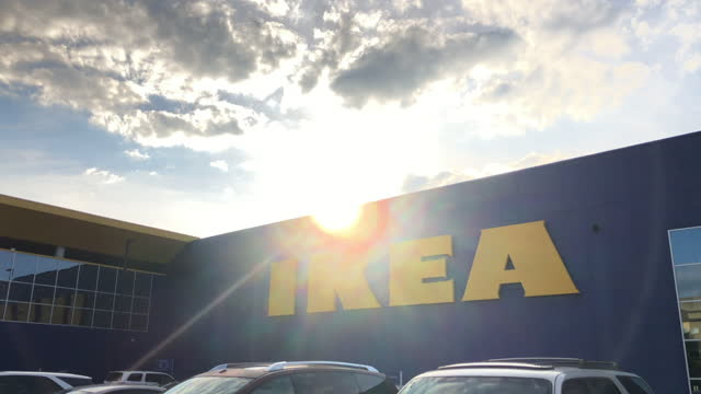 people shopping at ikea in atlanta, georgia on may 30, 2021. ikea is a european furniture chain store that has retail centres all over the world in... - dramatic sky stock videos & royalty-free footage