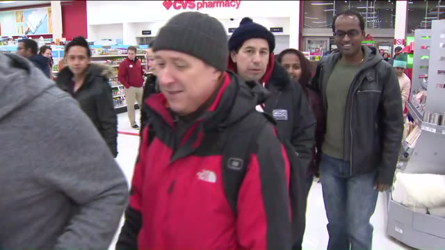af9974e76b8 WPIX- People Shopping at Target for Black Friday. Stock Footage Video