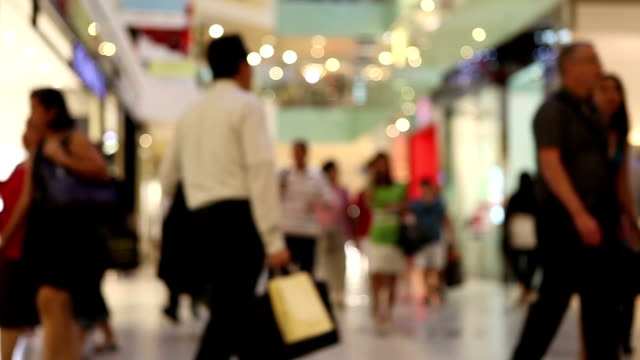 people shopping mall consumerism - shopping centre stock videos & royalty-free footage