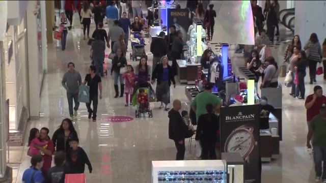 ktla people shopping on 'black friday' at glendale galleria - glendale galleria stock videos & royalty-free footage