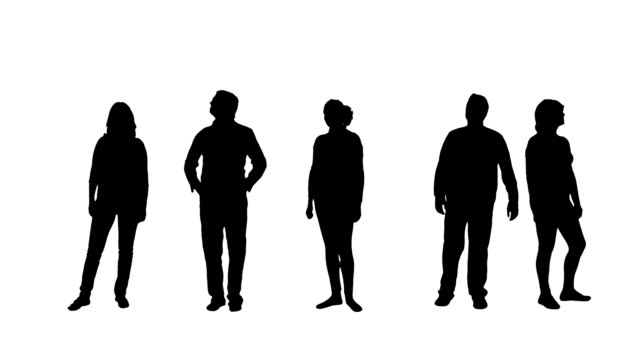 people silhouettes - plain background stock videos & royalty-free footage