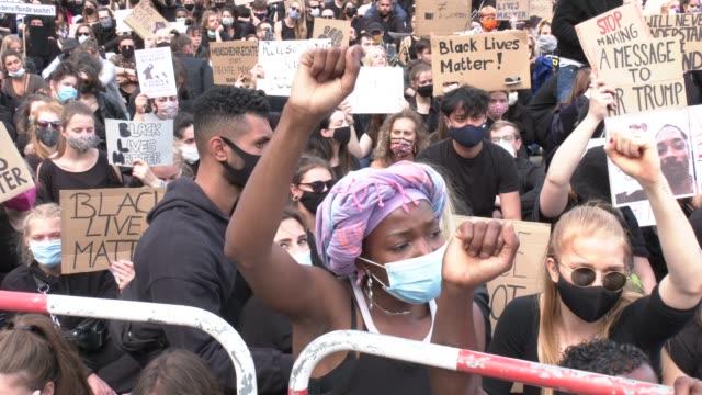 DEU: Demonstrators Pay Tribute To George Floyd In Berlin