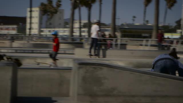people skating at venice skatepark California