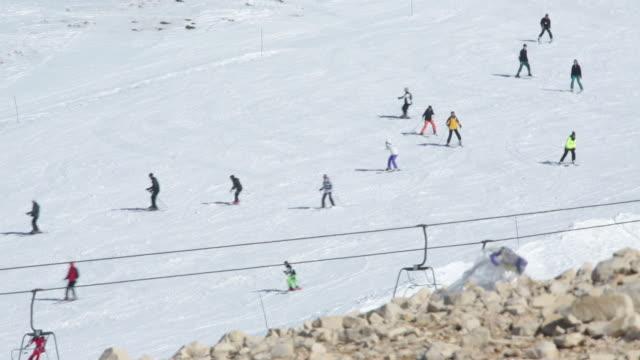 people skiing at mazaar ski resort