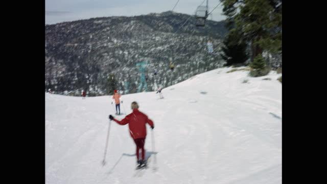 people skiing at ski resort, usa - ski lift stock videos & royalty-free footage
