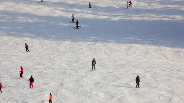 ws ha people skiing, russbach, salzburg, austria - russbach stock videos and b-roll footage