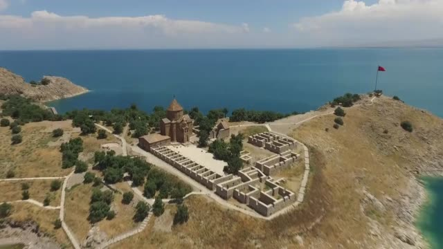people start to visit ancient akdamar church a 10th century armenian church located on akdamar island during shiny summer season on july 01 2017 in... - eastern european culture stock videos and b-roll footage