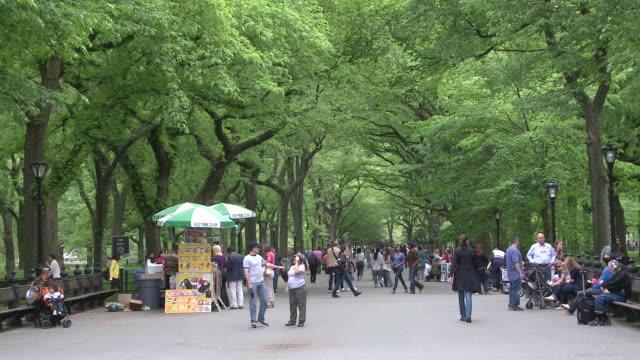 vidéos et rushes de  ws people strolling in central park / new york, united states - central park