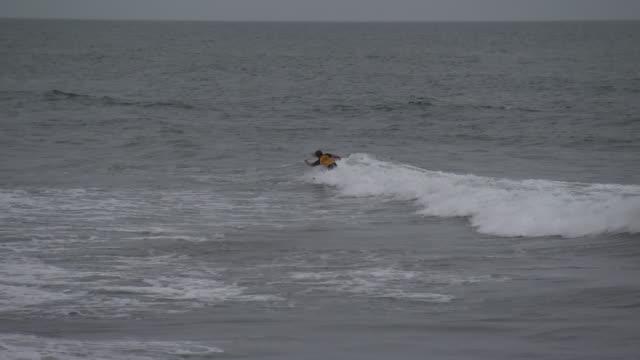 people surfing in the ocean in tokyo, japan. - sport点の映像素材/bロール