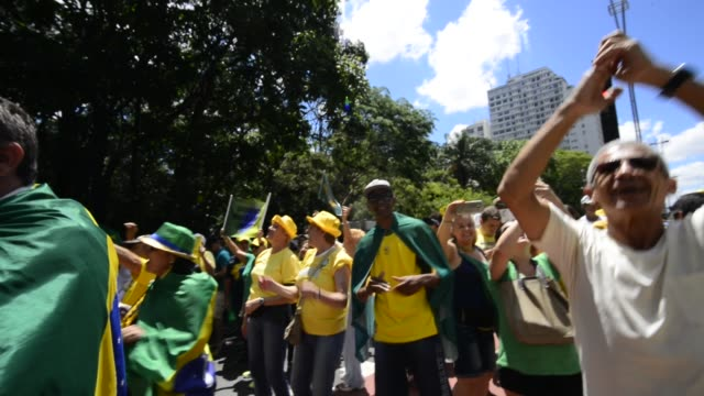 People take part in a nationwide protest against corruption at Paulista Avenue in São Paulo Brazil on December 4 2016