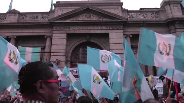 people take part in a protest in guatemala city demanding the resignation of congressmen - guatemala stock videos & royalty-free footage