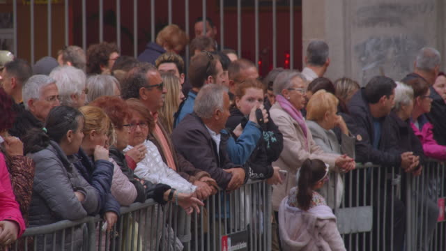 people take part in the good friday procession during the holy week in barcelona, spain, on april 19, 2019. christian believers around the world mark... - holy week stock videos & royalty-free footage