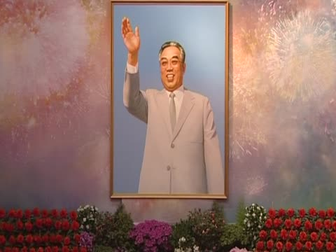 people take photos of kim il sung during his birthday celebrations pyongyang north korea - dictator stock videos & royalty-free footage