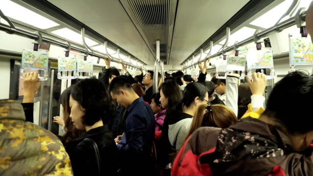 People take subway Line 6 on Oct 20 2017 in Beijing China