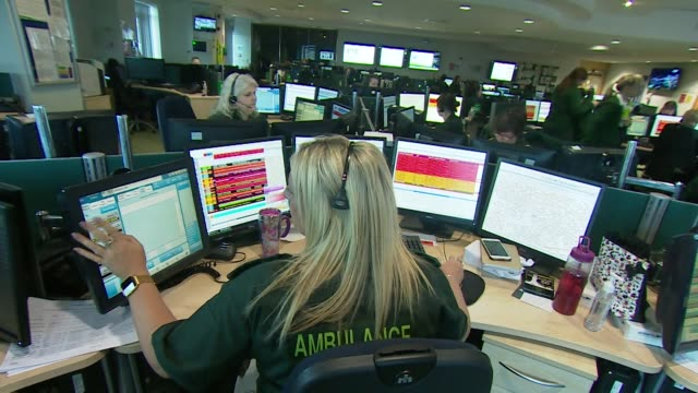 people taking emergency calls in ambulance control centre - remote location stock videos & royalty-free footage