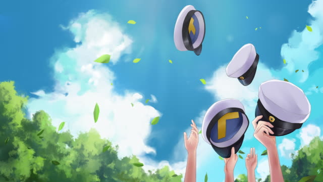 people throwing swedish graduation hats up in the air to celebrate - manga style stock videos & royalty-free footage