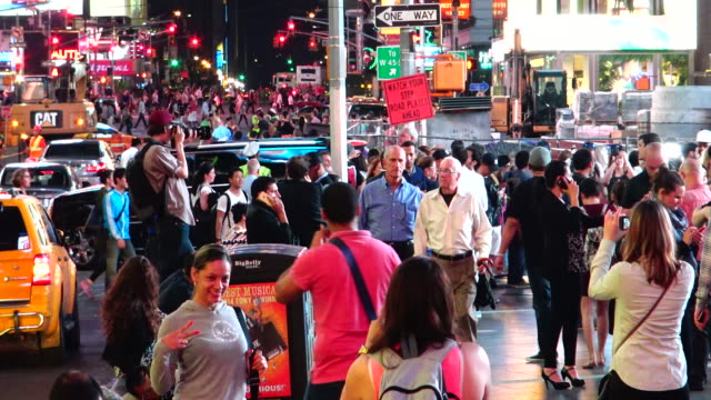 people, times square, new york city - one way stock videos & royalty-free footage