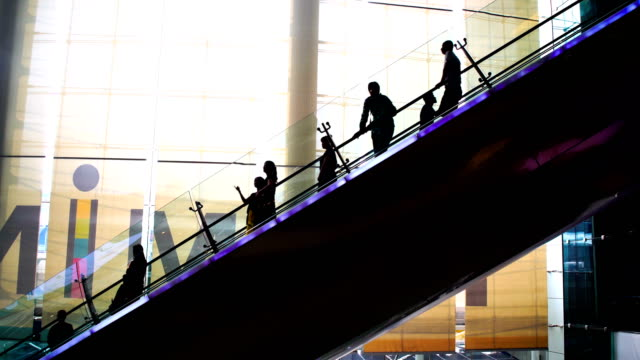 ws:people to move the escalator - escalator stock videos & royalty-free footage