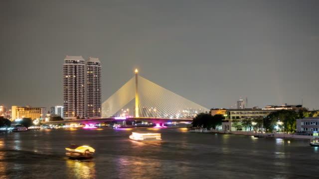 stockvideo's en b-roll-footage met mensen reizen per boot op de chao phraya-rivier in bangkok. - getal 8
